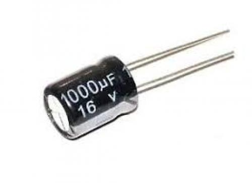 Capacitor 1000 uf 16 volt electrolytic