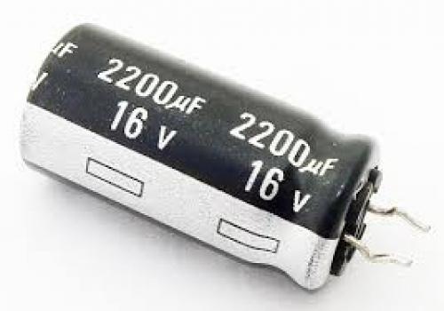 Capacitor 2200 uf 16 volt electrolytic