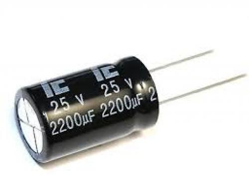 Capacitor 2200 uf 25 volt electrolytic