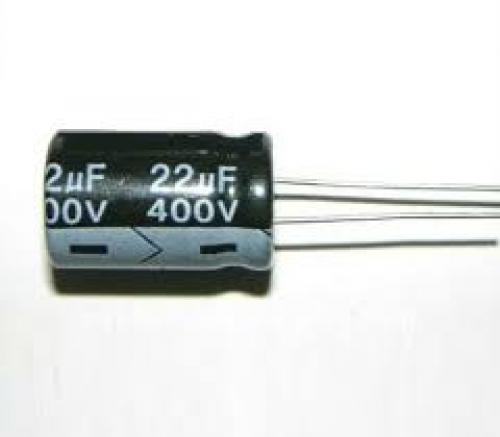 Capacitor 22 uf 400 volt electrolytic