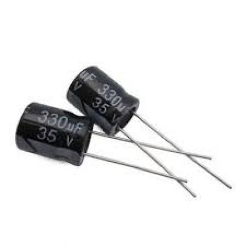 Capacitor 330 uf 35 volt electrolytic
