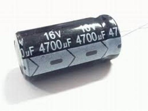 Capacitor 4700 uf 16 volt electrolytic