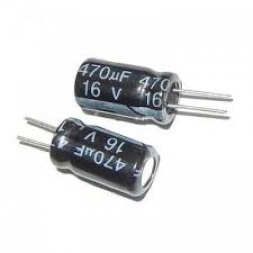 Capacitor 470 uf 16 volt electrolytic