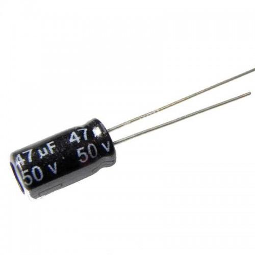 Capacitor 47 uf 50 volt electrolytic
