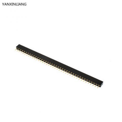 Pitch, 1, 27mm, 40, pin, stright, female, single, row, pin, header, strip, pcb, connector