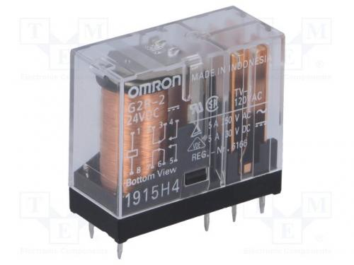 Relay 24v omron g2r, 2 glass package