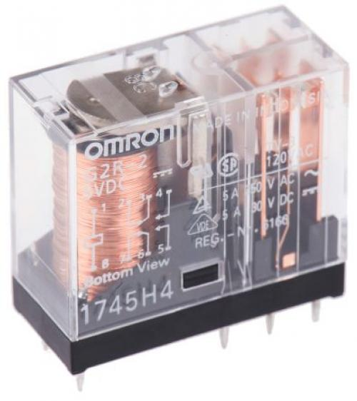 Relay 5v omron g2r, 1 glass package