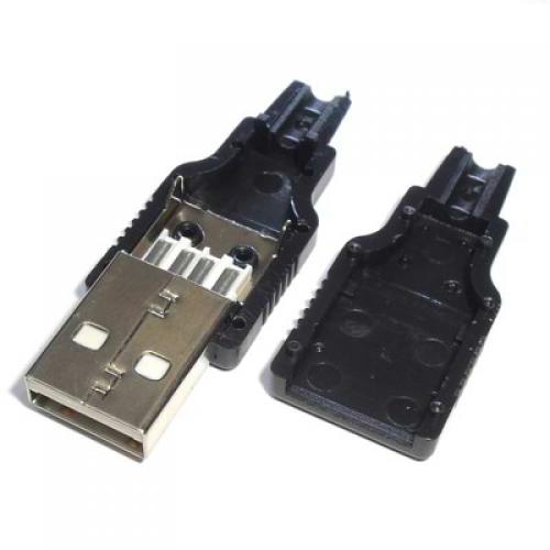 Usb a male connector with cover