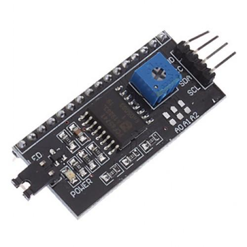 lcd1602 adapter board w iic i2c interface black works with official arduino boards 500x500